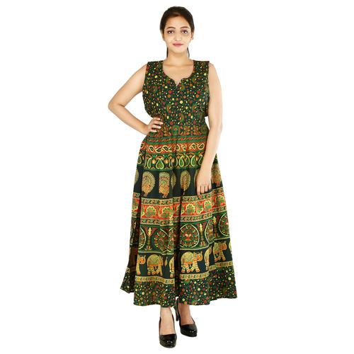 Handloom Palace Long Women Dress Multi Color Maxi