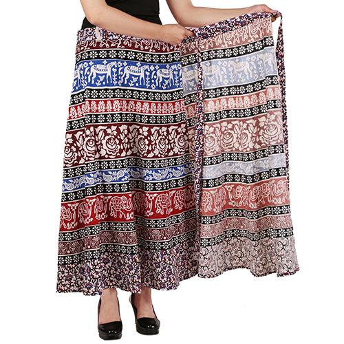 Handloom Palace Wrap Around Long Skirt For Women