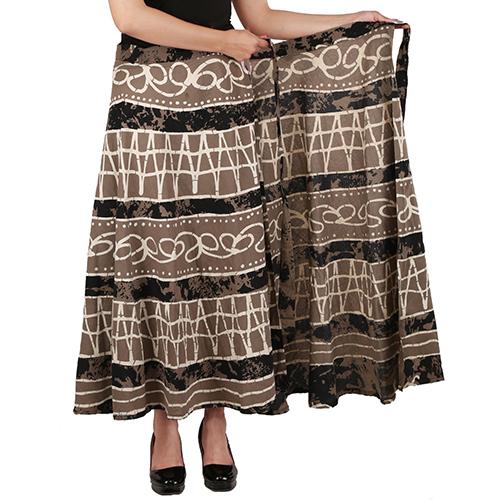 Handloom Palace Multi Color Long Skirt Wrap Around Skirt For Womens