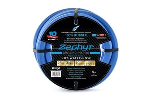 Zephyr Next-gen Water Hose (3/4in. x 25ft, Ultra-Light Flexible Rubber with Brass-end Fittings)