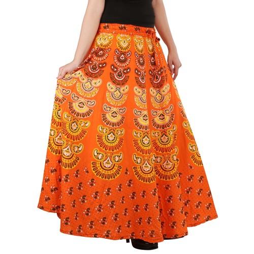Handloom Palace Ladies Skirts Mandala Multi Color Long Skirt