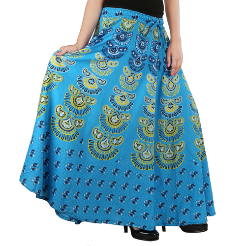 9fea00ed Handloom Palace Long Women Printed Multi Color Skirt in Jaipur ...