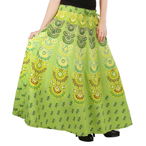 Handloom Palace Multi Color Printed Long Skirt
