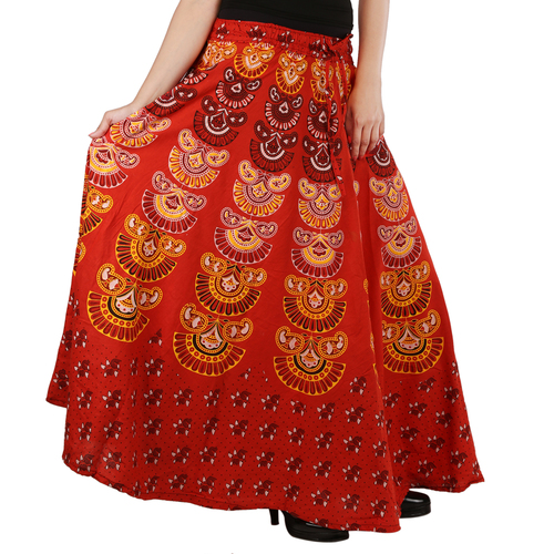 Handloom Palace Multi Color Printed Womens Skirt
