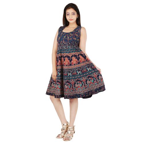 Handloom Palace Short Mandala Printed Dress