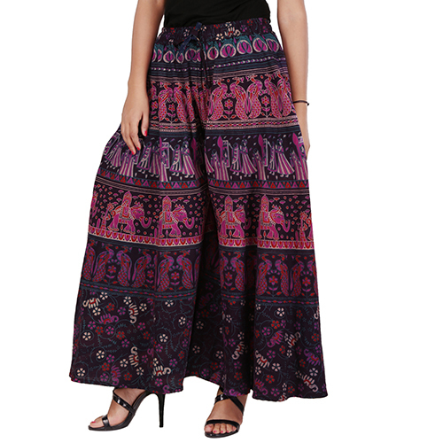 Handloom Palace Women Palazzo Printed Multi Color