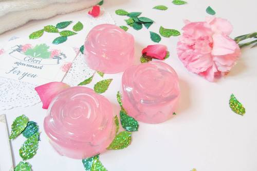 Glitter Rose Soap: Aroma Exfoliating And Cleansing Bar