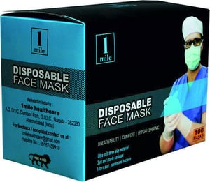 1 Mile Disposable Face Mask (Pack of 100)