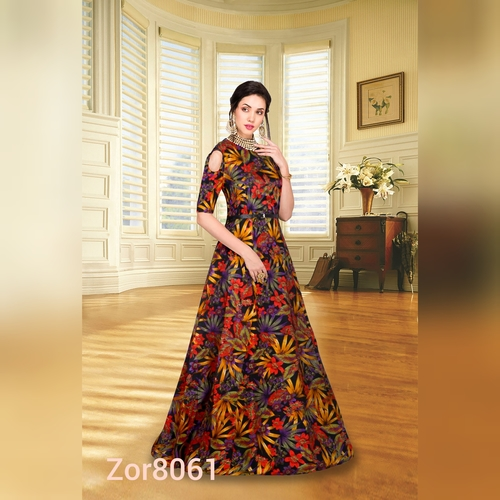 edf6809c898c Designer Party Wear Ladies Gown - Harli Fashion