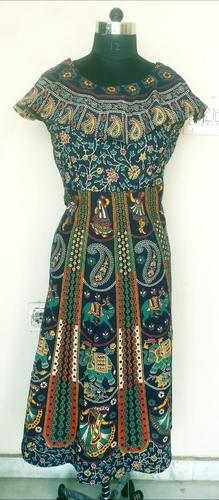 Frill Cotton Slub Gown