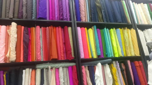 Multicolor Georgette Plain Fabric