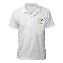 Sublimation White Collar T-Shirts