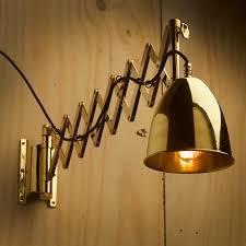Brass Scissor Wall Lamp