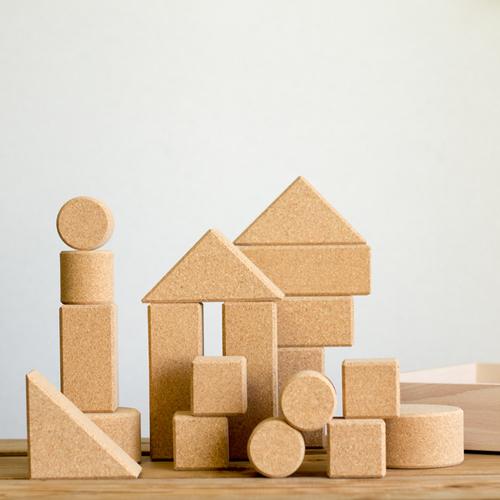 Light Weight Cork Building Blocks