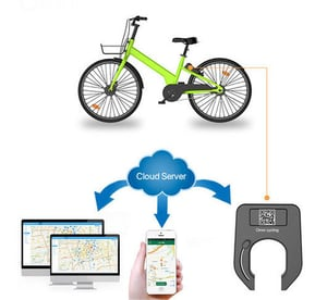 Bicycle Sharing Smart Lock Aluminium Alloy Remote Controlled Smart Bluetooth Bicycle Lock