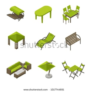 Garden Wooden And Plastic Tables And Chairs