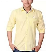 Plus Size Yellow Color Casual Shirt