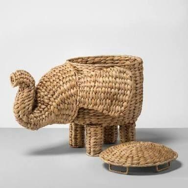 Elephant Shape Cane Basket Eco-Friendly