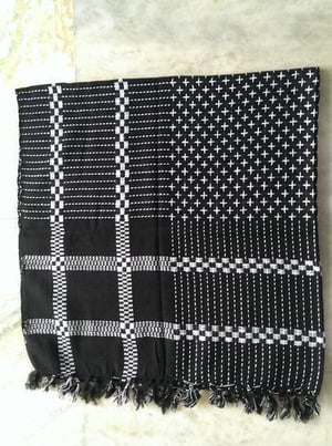 Cotton Dobby Square Scarf