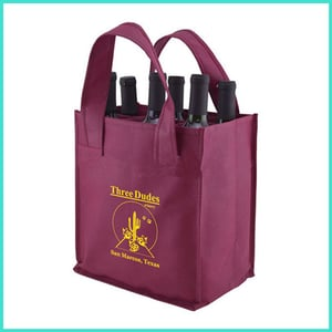 Customized Recyclable PP Non Woven Wine Bag