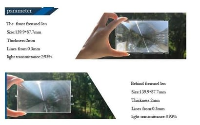 Fresnel Lens For 5.8 Inches [Projector Optical Lens Magnifying Lens Magnifier]