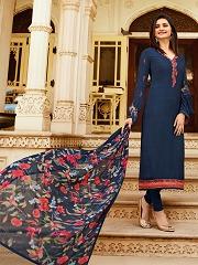 1cc50c0891 Prachi Desai Color Royal Crape Embroidered Straight Suit · Salwar Kameez