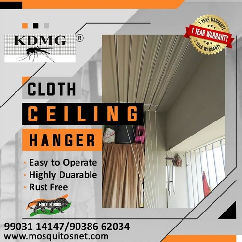 Stainless Steel Ceiling Cloth Hanger With One Year Replacement Warranty With Installation
