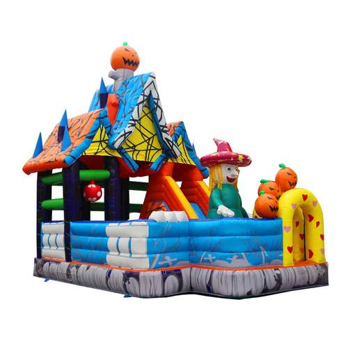 Halloween Gifts Inflatable Jumping Castle With Slide Bouncing Castle Certifications: Ce  Sgs