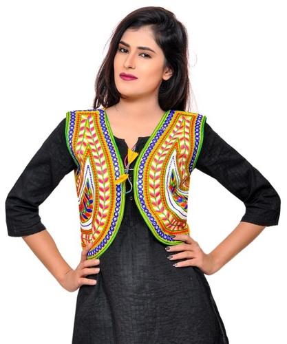 e5d9c3e0f2c91d Keri-Women's Kutchi Embroidered Sleeveless Short Jacket in Ahmedabad ...