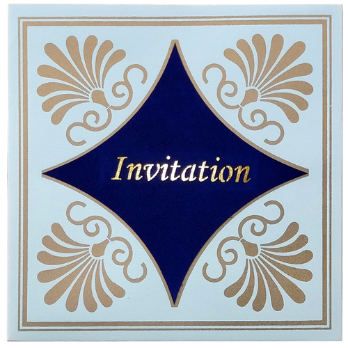 Designer Wedding Invitation Card 7052