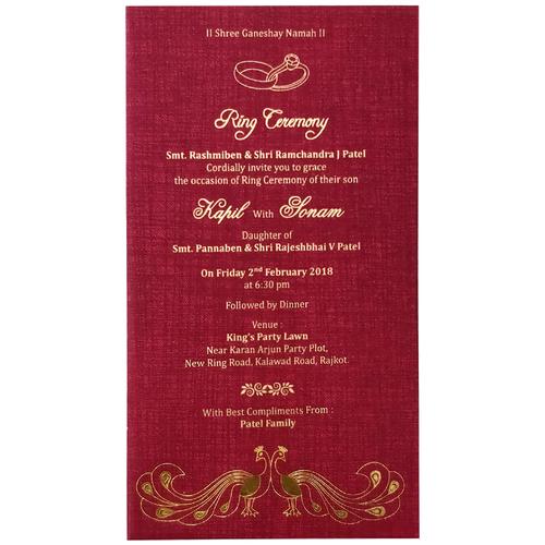 Hindu wedding invitation card 7003 in ahmedabad gujarat metro hindu wedding invitation card 7071 stopboris Images