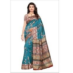 Multicolored Kalamkari Mysore Silk Saree