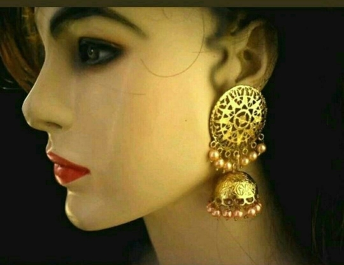 Polki Kundan Earring Set