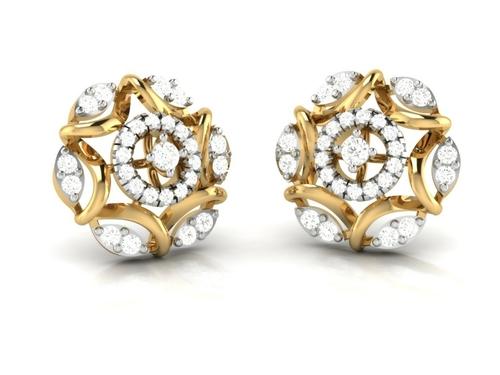 Gold CZ Earring Set