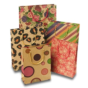 Many Sizes Shopping Paper Bags