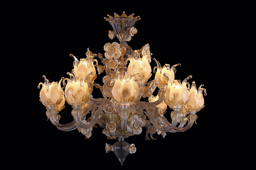 Classic European Art Glass Tulip Chandelier (YHD7020-10+5)