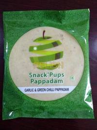 Madras Garlic & Green Chilli Papad