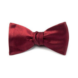 Red Satin Mens Bow Tie