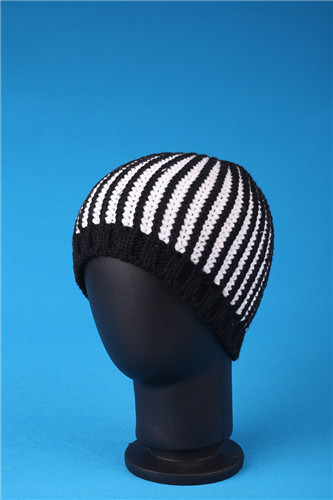 High Grade Plain Winter Knitted Covering Brocade Hat