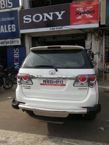 Car Fortuner Rear PU Guards (SS 3 Inch)