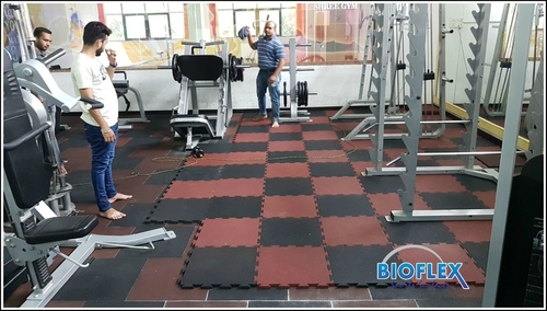 Interlock Gym Rubber Tiles