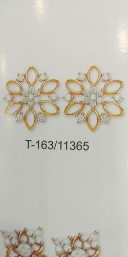 CZ Gold Earring