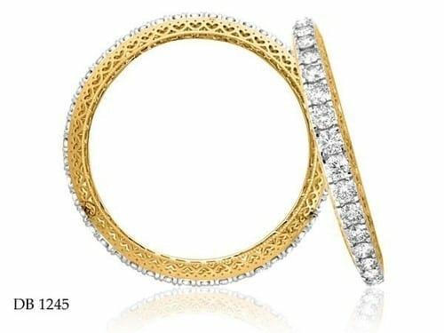 Handmade Fancy Diamond Bangles