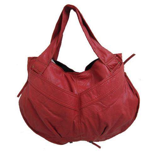 Ladies Red Color Leather Handbag