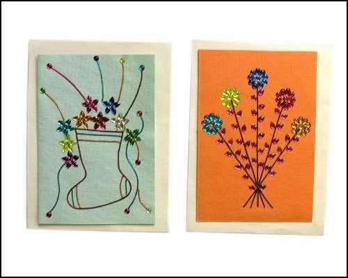 Handmade Paper Greeting Cards Size: Custom