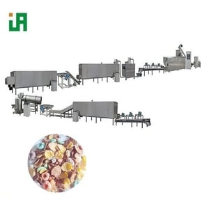Puffed Breakfast Cereals Corn Flakes Processing Line Making Machine