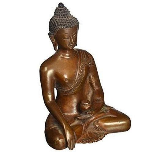 Metal Gautam Budha Copper Statue