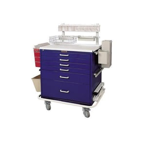 Well Spaced Anaesthesia Trolley Cart