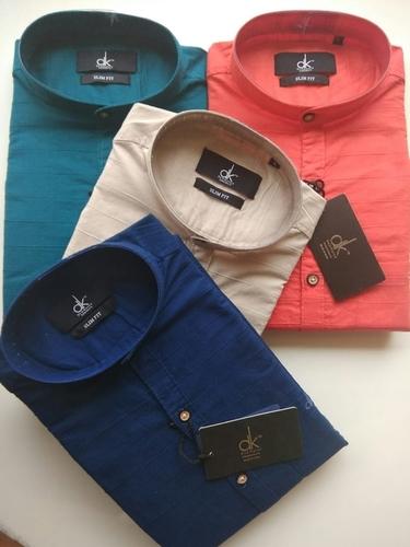 36bce366f Mens Chinese Collar Cotton Shirts in Gokak, Karnataka - THE YUVATHIS