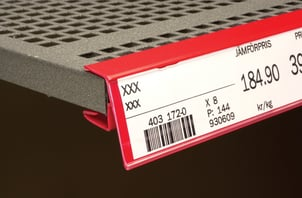 PVC Label Holder For Store Displaying